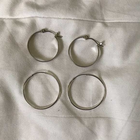 New Silver Hoop Earrings